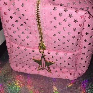 Jeffree Star Bags - Jeffree Star Pink Star-Cut Out Cosmetic/Travel Bag